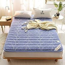 Futon Mattress Topper,Cotton Tatami Floor Mat,Anti-Slip Folding Mattress,Breathable Skin-Friendly Mat,Comfort Portable Sle...