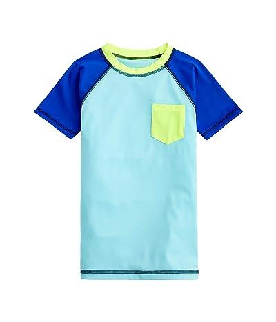 crewcuts by J.Crew Color-Block Short Sleeve Rashguard (Toddler/Little Kids/Big Kids) (Blue Sky/Combo) Boy