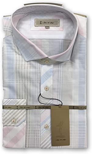 1...like no other blanc Cotton Check Shirt Taille 17 Cotton
