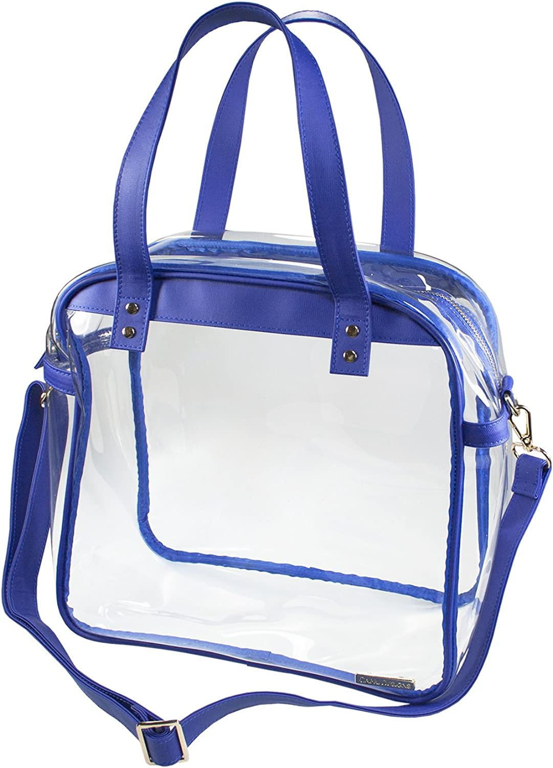 Capri Designs Clearly Fashion Stadium Collection Clear Carryall Tote Bag Meets Stadium Requirements
