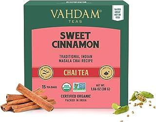 VAHDAM, Hot Cinnamon Tea   30 Tea Bags (Set of 2)   100% Natural Spices   Ancient Cinnamon Masala Chai Tea Recipe   Spiced...