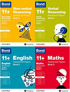 Bond 11+: Maths, English, Non-verbal Reasoning, Verbal Reasoning: Assessment Papers Book 2: 9-10 years Bundle