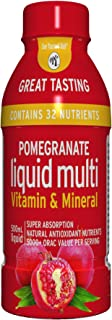 Pomegranate Liquid Multivitamins: Vitamins A B C D E, and Mineral Supplement. Superfood - Super Absorption. Natural Antiox...