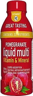 Pomegranate Liquid Multivitamins: Vitamins A B C D E, and Mineral Supplement. Superfood - Super Absorption. Natural Antioxidant. 1 oz Equals 8 oz of Pomegranate Juice. No Sugar Added. Vegan. Non-GMO.