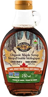 L.B. Maple Organic Flavour Syrup with Dark, Robust Taste, 250 ml