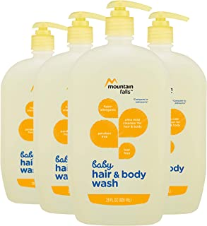 Mountain Falls Hypoallergenic Tear-Free Baby Hair and Body Wash, 28 Fluid Ounce (Pack of 4)