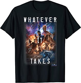 Avengers Endgame Movie Poster Whatever It Takes T-Shirt