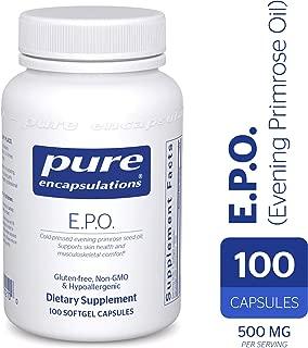 Pure Encapsulations - E.P.O. (Evening Primrose Oil) - Hypoallergenic Dietary Supplement Containing 9% GLA - 100 Softgel Capsules