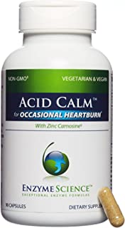 Enzyme Science - Acid Calm, Occasional Heartburn & Indigestion, 90 Vegetarian Capsules