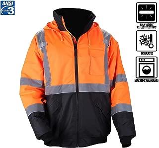 waterproof jacket hi vis