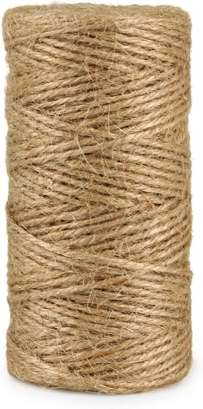 Max 41% OFF security Natural Jute Twine String Rolls - 3 Feet 328 Durable Brown ply