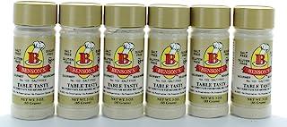 6-Pack Table Tasty Salt Substitute No Potassium Chloride Substitute for Salt - 6 3 oz Bottles with Shaker (...