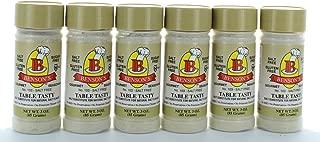 6-Pack Table Tasty Salt Substitute No Potassium Chloride Substitute for Salt - 6 3 oz Bottles with Shaker (Pack of 6)