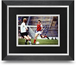 Liam Brady firmado 10x 8foto enmarcada Arsenal Memorabilia autógrafos + COA
