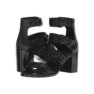 Frye Danica Western Buckle (Black) High Heels
