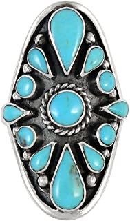 Turquoise Ring Sterling Silver 925 Sizes 6 to 11