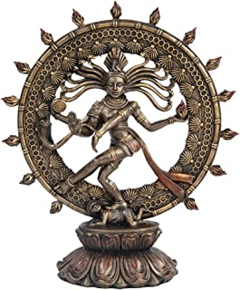 Hindu Shiva Nataraja Dancing Statue Bronze Finished