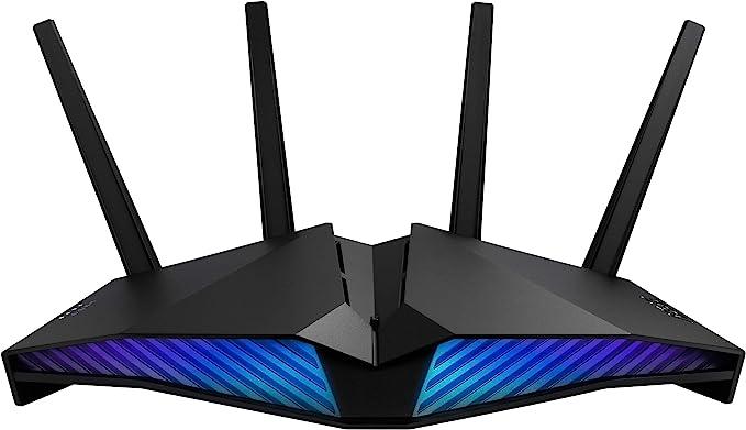 1181 opinioni per ASUS DSL-AX82U AX5400 Dual Band Wifi 6 Modem Router, 802.11ax, ASUS Aura Rgb,