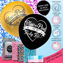 Premium Baby Gender Reveal Exploding Balloon Kit By CaddyBaby | Includes 36