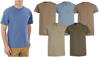 Men's Pocket T-Shirts 5-Pack Assorted Colors. Sizes- M-XL