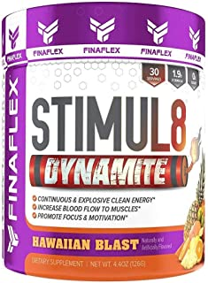 Stimul8 DYNAMITE, Explosive Preworkout for Men and Women, Continuous Clean Energy for Hours, Increase Performance, Strengt...