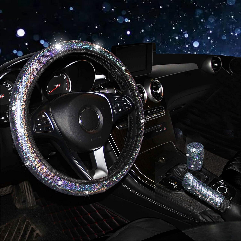 RANXIZY 5 ☆ popular Steering Wheel Cover with Shift Max 51% OFF C Gear Handbrake