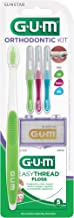 GUM Orthodontic Kit - Orthodontic Toothbrush, 3 Proxabrush Sizes, EasyThread Floss, and Mint Ortho Wax