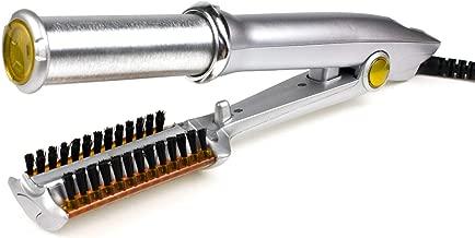 Cepillo Secador Profesional de Pelo Metálico Giratorio Peine Ondulador y Secador Plancha de 2 Vías Rizadora Rotativa Plancha Para Alizar con Peine