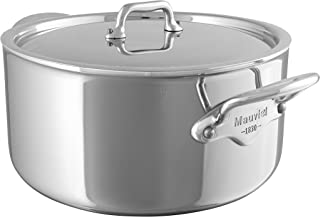 Mauviel Made In France M'Cook 5 Ply Stainless Steel 5231.21 3.6-Quart Stewpan with Lid, Cast Stainless Steel Handle