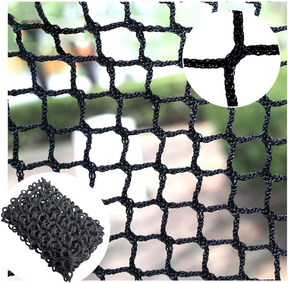 FTTHYAG Stairs Net, Balcony Netting Black Knotless Safety Fence