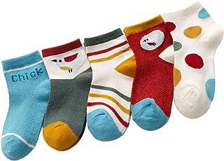 Aivtalk Lot de 5/10 Paires Enfant Chaussettes Basses Coton Bébé Fille Garçon Mince Respirant Été Motif Dessin Mignon Impri...