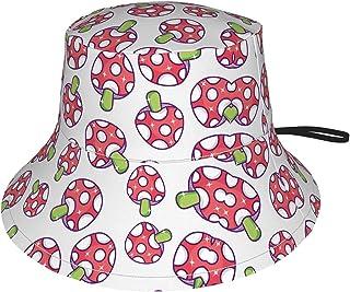 Lsjuee - Cappello da sole per bambini, motivo: funghi