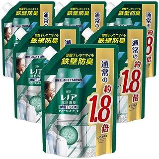 【ケース販売】レノア 本格消臭 衣類の消臭専用 デオドラントビーズ 部屋干しDX グリーンフレッシュハーブ 詰め替え 特大 805mLx6個