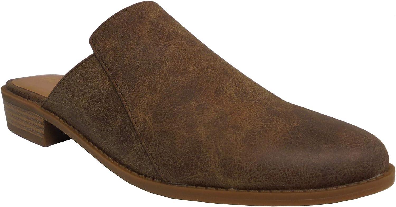 BC Footwear Womens Look at Me II Mule, Tan, Size 8