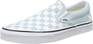 5c4c00532a Vans Women's Classic Slip on Trainers, Blue ((Checkerboard) Baby Blue/True