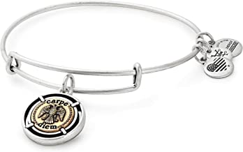 Alex and Ani Women's Two-Tone Carpe Diem Bangle Bracelet