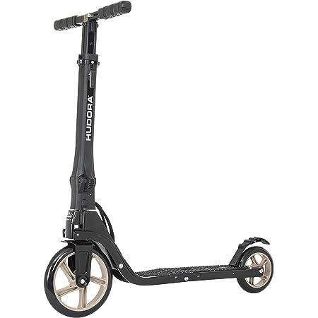 Hudora Patinete Tour 200 – Patinete Big Wheel Plegable en tamaño de Mochila – Patinete Plegable con Mochila.