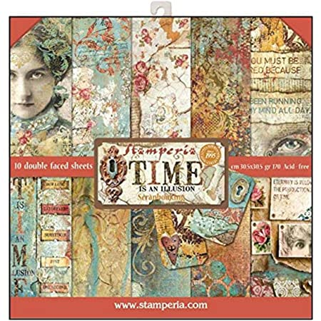 Double-sided Scrapbook Paper Steampunk Animals Stamperia 30 x 30 Vintage Pape...