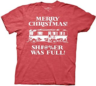 National Lampoons Xmas Vacation Sh#@%er was Full Mens Red Heather T-Shirt