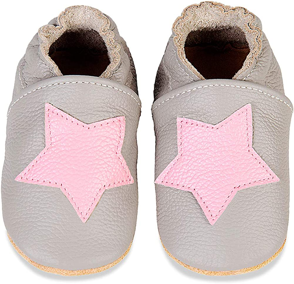 YALOX Baby Girl Moccasins Cute Toddler Boy Loafer Flats Soft Sole Prewalker First Walking Leather Infant Shoes