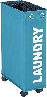 Wenko Wäschesammler Corno - Wäschekorb, Fassungsvermögen: 43 l, 18,5 x 60 x 40 cm, petrol
