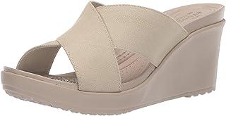 Crocs Leigh II Cross-Strap Wedge womens Wedge Sandal