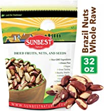SUNBEST Whole, Raw, Shelled Brazil Nuts in Resealable Bag … (2 Lb)