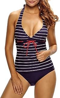 Daxoon Damen Bl/ätter Blume Lange /Ärmel Badeanzug Bikini,Rash Guard Bademode UV-Schutz mit Zur/ück /öffnen und Spitze,Zweiteiliger Badeanzug Sommer Strandbadeanzug