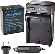 Power2000 Fully Decoded BL-H1 Battery and Charger Kit for for Olympus OM-D E-M1 Mark II, OM-D E-M1X, BCH-1, HLD-9 Cameras