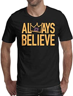 Men t-Shirts Always Believe La-Bron Short Sleeve Cotton Shirt
