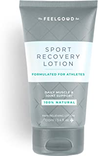 Sport Recovery Lotion by The Feel Good Lab - 100% Natural, Clean Ingredients - Recover from Post-Workout Muscle Soreness and Sports Injuries (3.4oz, 1 Count)