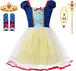 Baby Girl little Princess Snow Belle Little Mermaid Anna Cinderella Rapunzel Party Tutu Dress with Accessories