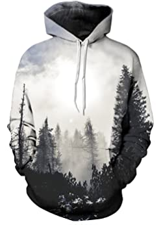 UNIFACO Unisex 3D Digital Galaxy Hoodie Novelty Cool Pullover Hooded Sweatshirt Hoody S-3XL
