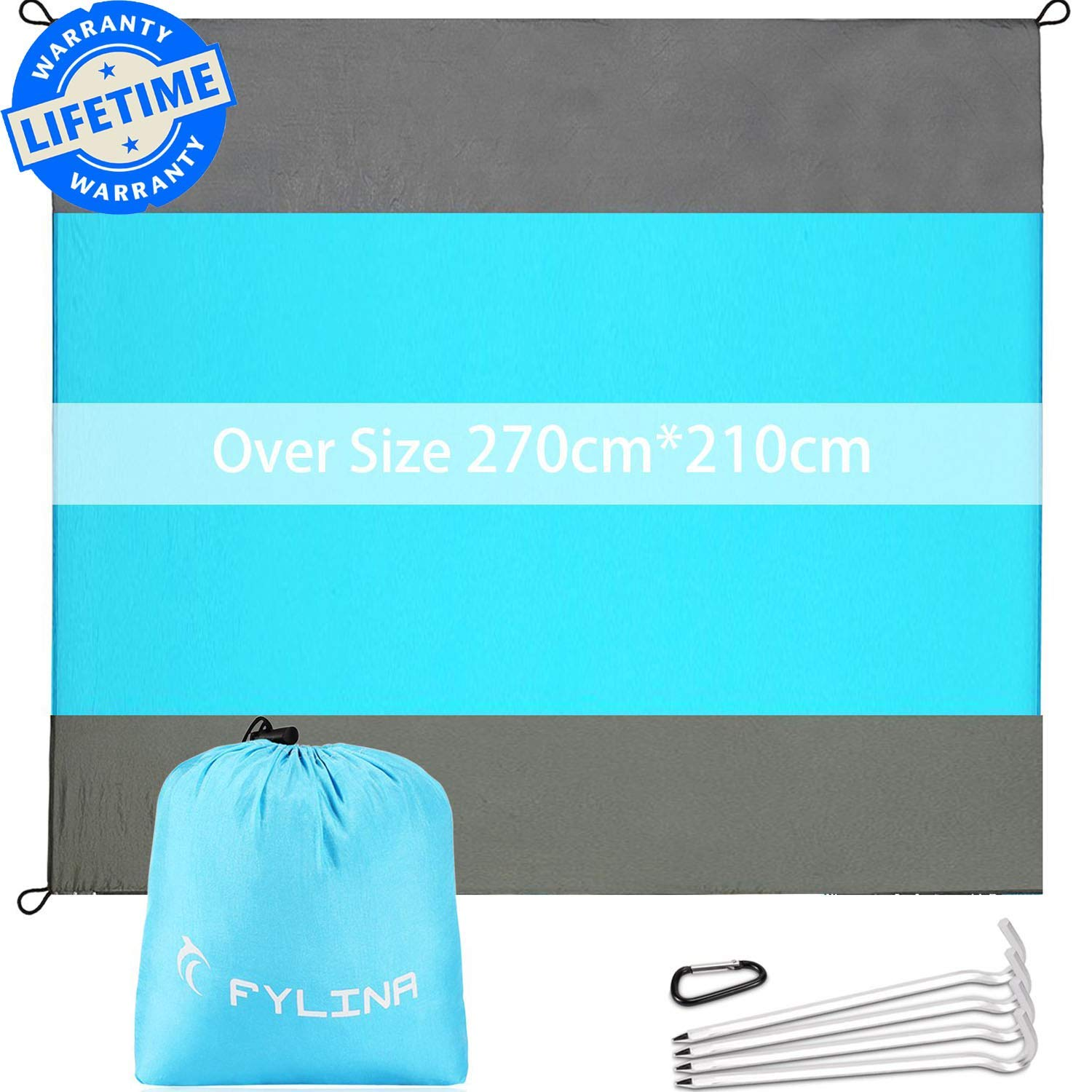 200 * 200 * 165cm for Outdoor Camping Fishing Picnic Easy to Carry Easy to Install Sunshade Beach Umbrella UPF50+ Protection Anti UV Sunscreen METTE Beach Tent with Sand Anchor